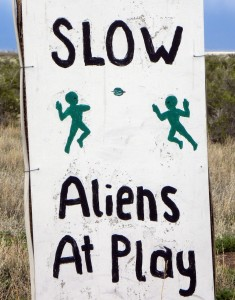 Alien Sign just outside of Salida Colorado