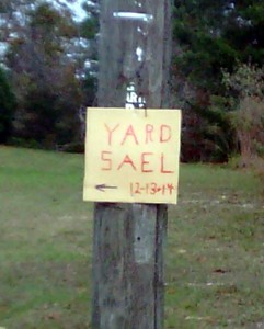 Yard Sale Sign Brooksville Florida