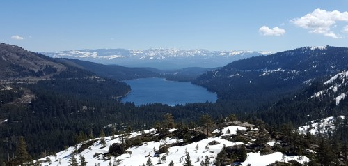 Donner Lake at the Donner Pass Summit Trail Hike